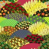 Картина Plenteous полей безшовная жизнь ингридиентов хлебоуборки хлопьев хлеба предпосылки здоровая все еще Стоковые Изображения RF