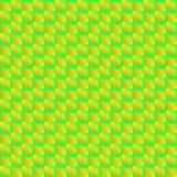 Картина Pyromidal зеленых квадратов и striped желтых треугольников иллюстрация штока
