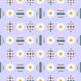 Картина s eamless с пасхальными яйцами Приказанный орнамент также вектор иллюстрации притяжки corel иллюстрация вектора
