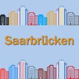 Картина Saarbrucken стоковые изображения