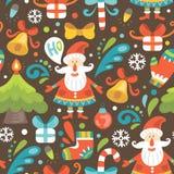 картина santa claus рождества безшовный Стоковое Изображение RF