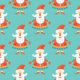 картина santa claus рождества безшовный Иллюстрация штока