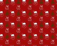 картина santa claus рождества безшовный Стоковая Фотография