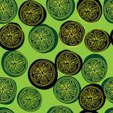 Картина Seamess с кусками лимона Стоковое фото RF