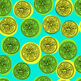 Картина Seamess с кусками лимона Стоковое Изображение RF