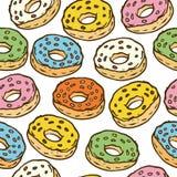 Картина Seamles Donuts Стоковые Изображения RF
