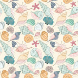 Картина Seashell безшовная Стоковые Фото