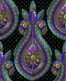 Картина Sequins безшовная вектор Без градиента Черная предпосылка Стоковое Фото