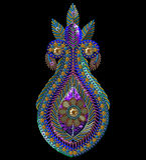 Картина Sequins paisley Ананас ART зажима вектора Стоковое Изображение