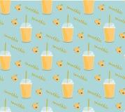 Картина smoothie абрикоса безшовная Стоковое Изображение
