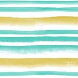 Картина striped акварелью безшовная Стоковые Изображения RF