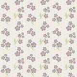 Картина tiling вектора безшовная - романтичные цветки Стоковые Фотографии RF