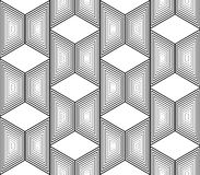 Картина trapezium дизайна безшовная monochrome Стоковое Фото
