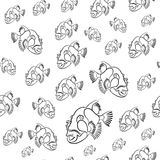 Картина triggerfish титана, предпосылка viridescens Balistoides, нарисованная с картиной карандаша Стоковая Фотография RF
