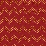 Картина zig-zg безшовная в красных и желтых цветах Стоковое Изображение
