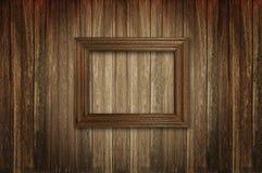 Картинная рамка дальше woden стена Стоковые Фотографии RF