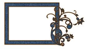 Картинная рамка джинсов для фото стоковое изображение