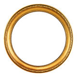 Картинная рамка золота - путь клиппирования Стоковые Фото
