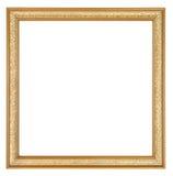 Картинная рамка золота квадратная Стоковое Фото
