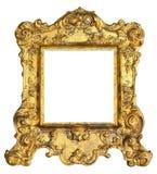 Картинная рамка золота королевская Стоковые Изображения RF