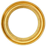Картинная рамка золота круглая Стоковое Изображение RF