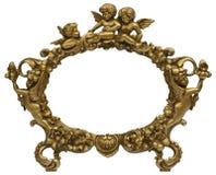 Картинная рамка золота херувима Стоковые Изображения