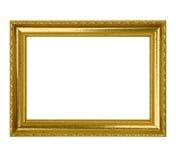 Картинная рамка листового золота Стоковые Фото