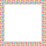 Рамка цветастых ног Стоковое Фото
