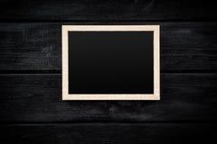 Картинная рамка на серой стене Стоковое Фото