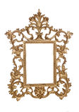 Картинная рамка сбора винограда золота Стоковые Фото