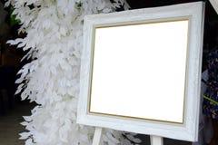 Картинная рамка свадьбы в свадебном банкете Стоковое Изображение