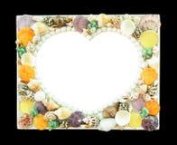 Картинная рамка Seashell стоковое фото