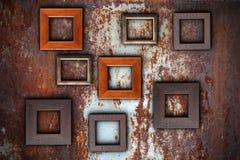 Картинные рамки на абстрактной поверхности Стоковое Изображение RF