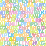 Картины алфавита безшовные иллюстрация вектора