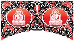 Картины Будды вектора Стоковые Изображения