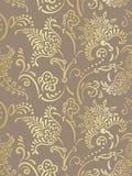 Картины вектора дизайна штофа золото роскошной безшовной цветистое иллюстрация штока