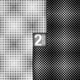 Картины вектора полутонового изображения безшовные, комплект  Стоковое фото RF