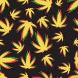Картины вектора предпосылки марихуаны безшовные Стоковое Изображение RF