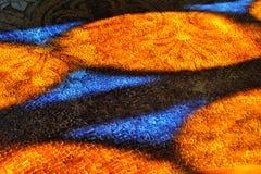 Картины витража на каменном поле мозаики Стоковое Фото
