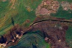 Картины в полях сельскохозяйствення угодье на весне Стоковые Изображения