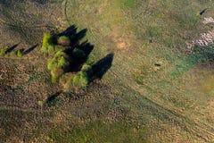 Картины в полях сельскохозяйствення угодье на весне Стоковые Фотографии RF