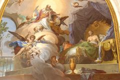 Картины в соборе St Mary, Toledo, Испании Стоковое Фото