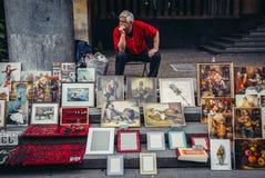 Картины в Тбилиси Стоковая Фотография
