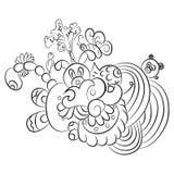 Картины в черно-белом Страница для книжка-раскраски иллюстрация штока