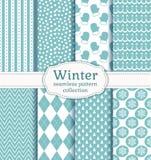 Картины зимы безшовные вектор комплекта сердец шаржа приполюсный Стоковые Фотографии RF