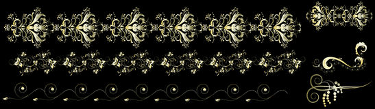 картины золота Стоковые Изображения