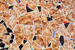 Картины и цвета керамической плитки Стоковое фото RF