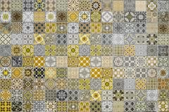 Картины керамических плиток от Таиланда Стоковая Фотография RF