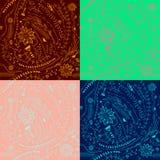 Картины красочного цветка безшовные Стоковые Фотографии RF