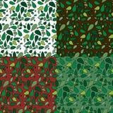 картины листьев безшовные Стоковые Фотографии RF